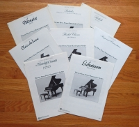 Lot of 8 Masterpiece Piano Series Liszt, Beethoven & More -