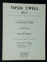 Thou Swell (Eb Voice) Connecticut Yankee Lorenz Hart 1927