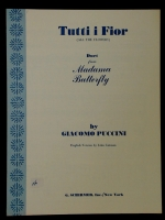Tutti i Fior (All The Flowers) Duet Madam Butterfly Puccini 1963