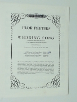 Flor Peeters Wedding Song high Voice & Organ / Piano. 1962
