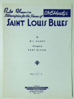 Rube Bloom's Saint Louis Blues, WC Handy 1928