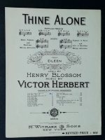 Thine Alone in G Voice. Victor Herbert. 1929