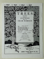 Trees Song by Joyce Kilmer Low C Voice 1949 opera sheet music