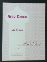 Arab Dance Piano Solo by John F. Carre 1963