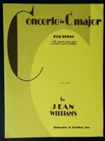 Concerto In C Major With 2nd Piano Part. Jean Williams 1946