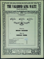 The Vagabond King Waltz In High F Voice. Hooker / Friml 1926