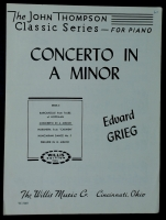 Concerto In A Minor, Grieg. John Thompson Series 1949