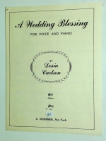 A Wedding Blessing For Low Voice & Piano by Dosia Carlson. G 19