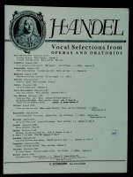 Where'er You Walk in Medium G Voice. Handel Aria From Semelle