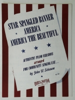 Star Spangled Banner, America, America the Beautiful 1954