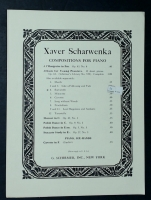Barcarolle From Album For Young Pianists, Xaver Scharwenka 1926