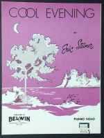 Cool Evening Piano Solo by Eric Steiner 1959