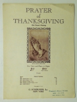 Prayer Of Thanksgiving, Low Voice 1943