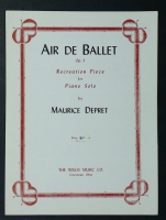 Air De Ballet Op 3 Piano Solo by Maurice Depret 1942