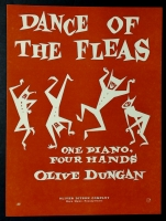 Dance Of The Fleas, 1 Piano 4 Hands. Olive Duncan 1958