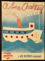 A Sea Chanty Piano Solo Arranged by June Weybright 1954