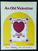 An Old Valentine David Carr Glover Solo Piano 1969
