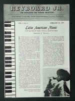 Keyboard Junior (Jr) Magazine For Young Musicians, Feb 1947
