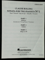 Sonata For 2 Pianists St Bass Parts 1,2 & 3 Claude Bolling 1992