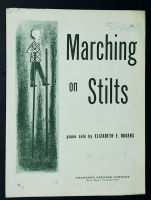 Marching On Stilts Piano Solo by Elizabeth Rogers 1958