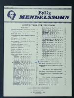 Consolation No 9 Op 30 No 3. Mendelssohn Songs Without Words