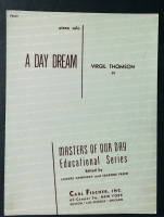 A Day Dream Piano Solo by Virgil Thompson 1941
