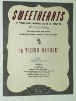 Sweethearts, High Voice & Piano by Victor Herbert 1913