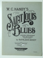 W.C. Handy's Saint Louis Blues For 2 Pianos 4 Hands 1954