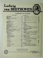 Gavotte in B Minor, Beethoven 1912 opera sheet music