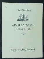 Arabian Night Romance For The Piano Albert Mildenberg 1933